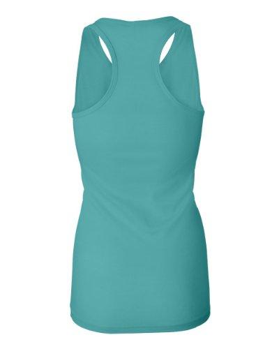 Bella - T-shirt de sport - Asymétrique - Femme Bleu - Bleu-vert