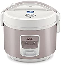 Kent Electric Rice Cooker 3-litres 860-Watt (White and Reddish Grey)