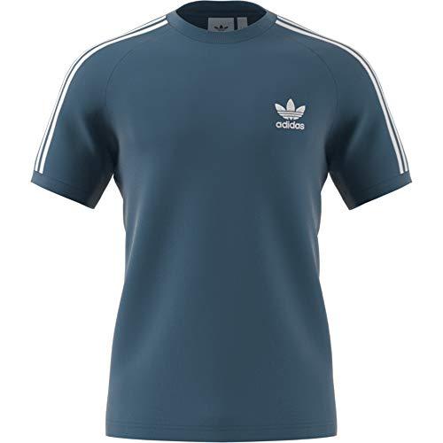 Authentic Blau Jersey (adidas 3-Stripes Tee T-Shirt für Herren, Blau (Blau))