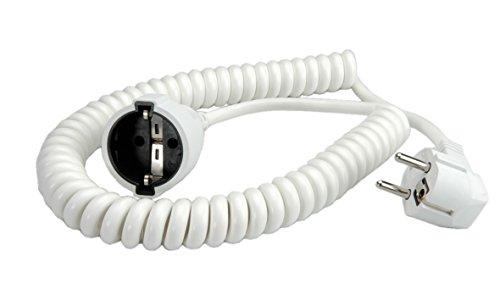 Bachmann 672.280 Rallonge Schuko Câble spirale 500/2000 mm Blanc (Import Allemagne)
