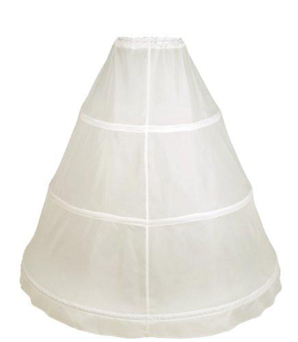 Flora 3 Hoop Bridal Wedding Petticoat/Prom Underskirt,Size XS-XXL (Elfenbein)