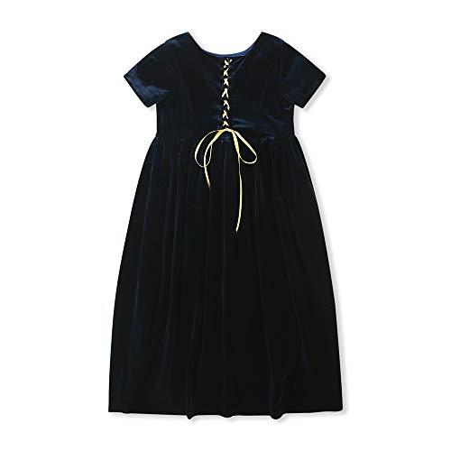 utumn Mädchen Kleid Suede Dress Maxi Kleider Pageant Prinzessin Mädchen Geburtstag Party A-line Dance Kleid Schwarz 2T ()