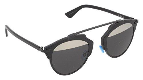 Christian dior diorsoreal md b0y, occhiali da sole donna, nero (black/grey mesh), 48