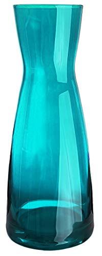 Bormioli Rocco - Wasserkaraffe Dekanter Glas 0,5 Liter Saftkrug Weinkaraffe Glaskaraffe Wein krug Wasser Saftkrug - hochwertige Qualität - 20,5cm - Türkis - Ypsioln Karaffe