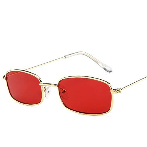 Sonnenbrille Kleine Rote Augen Brillen Sonnenbrille Sonne Brille Männer Frauen Uv400 Retro Metall Vintage Brand Design Vollständig Aus Magnesiumlegierung Rectangula Rot
