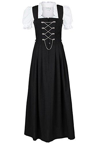 Damen Country-Line Damen Dirndl lang schwarz 'Ottilie', schwarz, 44