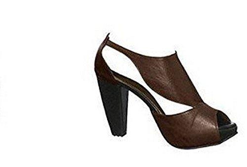 Sandalette aus dem Hause Heine aus Leder in Braun Gr. 39
