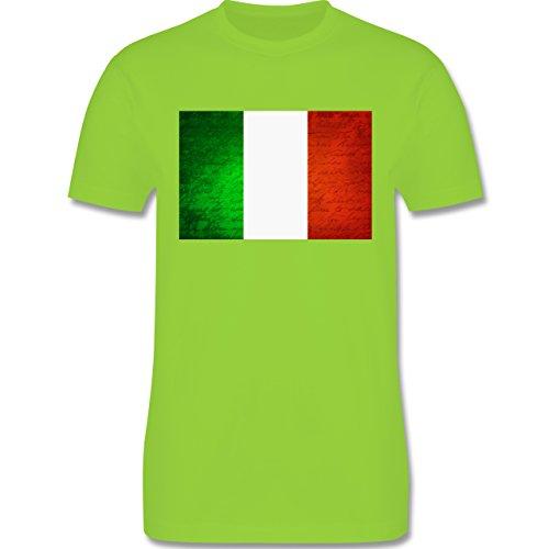 EM 2016 - Frankreich - Flagge Italien - Herren Premium T-Shirt Hellgrün
