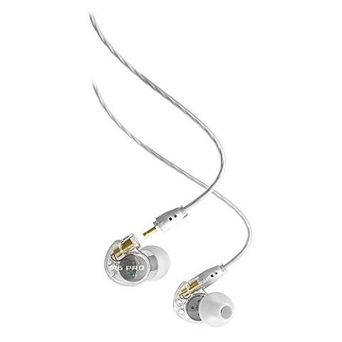 MEE audio M6 Pro Écouteurs Intra-Auriculaires pour Musicien à Isolation Acoustique et Port Universel M6 PRO de MEE Audio avec Câbles Détachables - Transparent