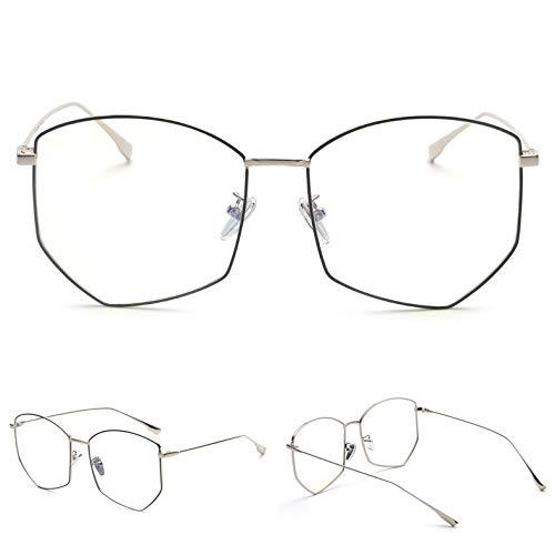 SNXIHES Sonnenbrillen Übergroße Brillengestell Frauen Metall 2019 Polygon Männer Optische Gläser Computerschutz Blaues Licht Schutzbrille 5
