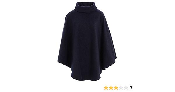 78,7/cm lang mit Kapuze Einheitsgr/ö/ße Damen-Poncho warm und flauschig einfarbig