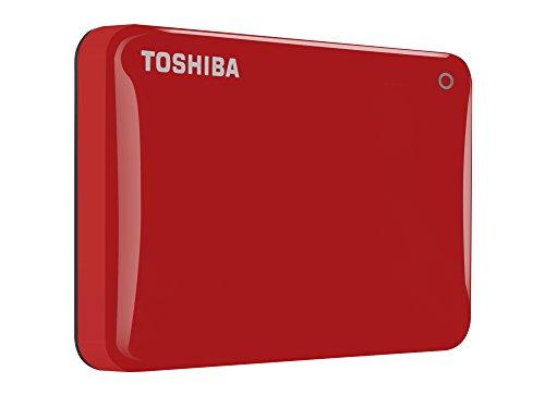 Toshiba Canvio Connect II 1 TB Mobile Festplatte (6,4 cm (2,5 Zoll) USB 3.0) rot