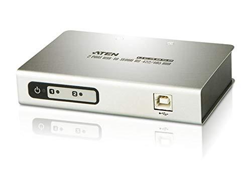 Rs 422-hub (ATEN UC4852 | 2P USB-Serial RS-422/485 Hub | 2-Port-Hub mit Konverter für USB- auf serielle RS-422/485-Schnittstelle)