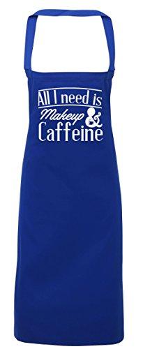 College Kostüme Diy (hippowarehouse All I Need is Make-up & Koffein Schürze Küche Kochen Malerei DIY Einheitsgröße Erwachsene, königsblau,)