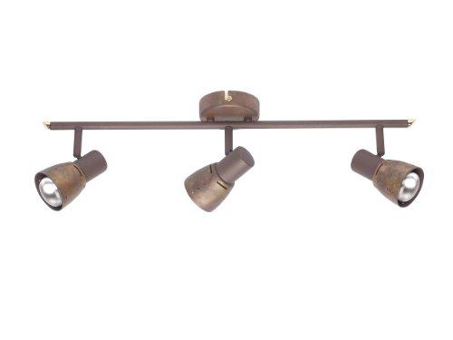 Brilliant Lava 39516/56 - Lámpara de techo (3 luces), color cobre