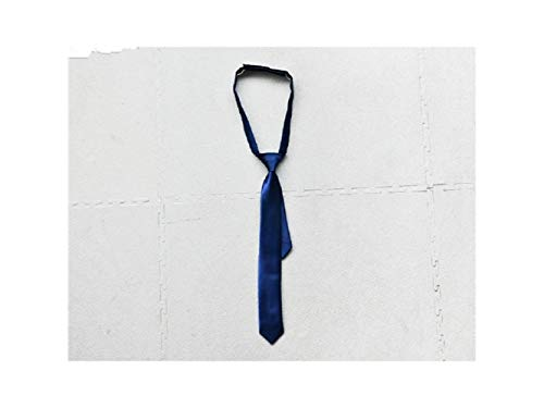 JxucTo Bequeme und schöne dünne Krawatte Gewebte Mikrofaser-Krawatte für Jungen Kinder (blau)