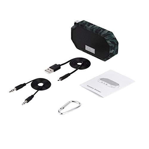 Elviray Tragbarer Mini wasserdichter IP66-stoßfester drahtloser CSR 4.0-Lautsprecher mit Mikrofon für Übungen im Innen- und Außenbereich (Drahtlose Licht-buchse)