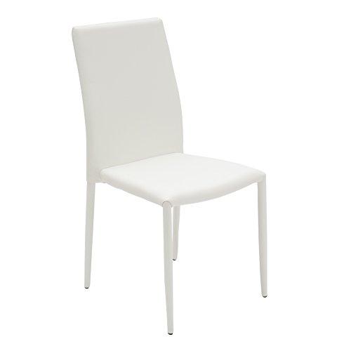 White loft, set di 2 sedie, metallo, bianco, 43x52x90 cm