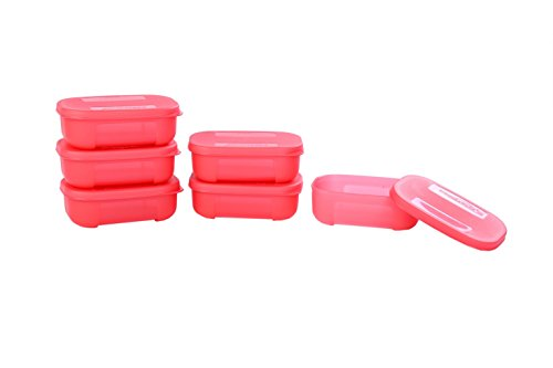 Signoraware Icy Cool Container Set, 140ml, Set of 6, Water Melon Red  available at amazon for Rs.349