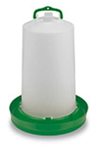 Abreuvoir plastique vert avec bouchon et anse 10L