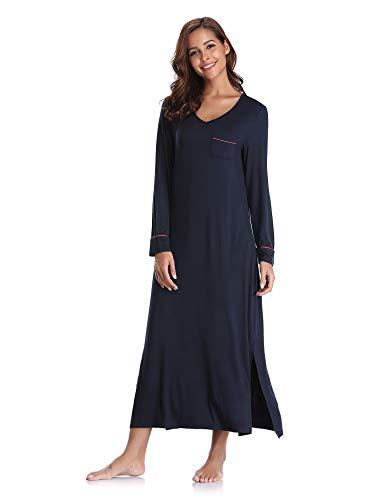 Aibrou Cotone Donna Vestaglie Camicia Notte Pigiama Da Kimono ZZn1Sraqxw