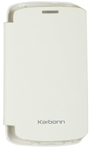 iCandy™ Synthetic Leather Flip Cover For Karbonn A3 Plus - WHITE  available at amazon for Rs.149