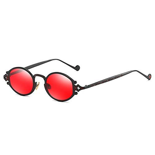 Sonnenbrille für Frauen-Street New Glasses Retro Steampunk Sonnenbrille Gothic Oval Frame Carved Sonnenbrille