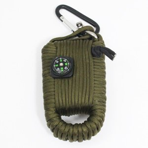 Miltec Grand Kit De Survie en Paracorde - Olive