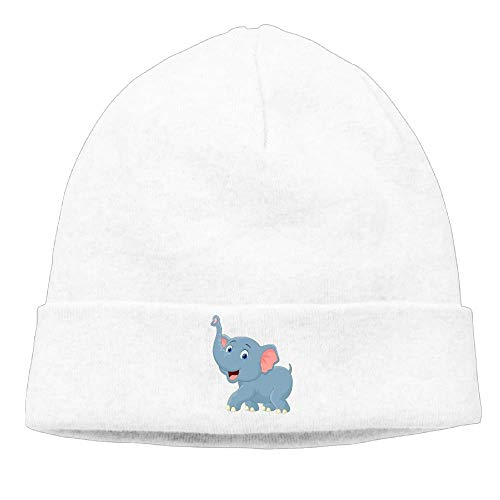 Preisvergleich Produktbild ARTOPB Unisex Cute Elephant Cotton Hedging Hats Soft Warm Beanies Caps, One Size