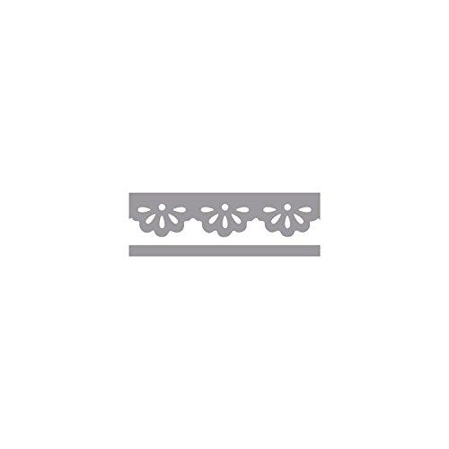 Rayher Hobby 89757000 Bordüren-Stanzer, Daisys- Motivgröße,4,5cm, geeignet für Papier/Karton bis zu 200g/m² -