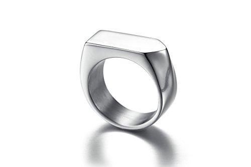 SonMo 925 Silber Ringe Herren Siegelring Zeichen Nichtstandardform Band Ring Men Silber 0.9CM Eheringe Rosegold Bicolor für Männer 62 (19.7)