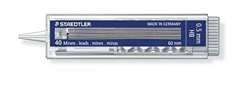 Staedtler – Minas (HB, 0,5 mm, 10 cajas de 40 minas)