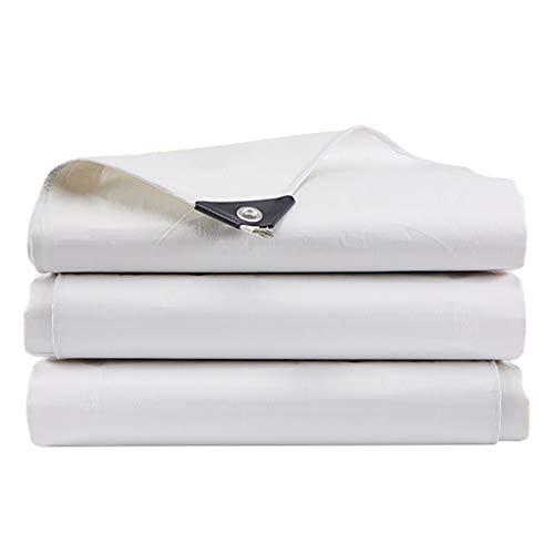 HHM wasserdichte Tarps 5m × 6m 12,5-mil Dicke Regenhüllen Drop Cloths Camping Zelte Weiß - Perfekt für Rucksacktouren, Camping, Schutz, Schatten, Bodendecker (Color : White, Size : 5m × 6m) -