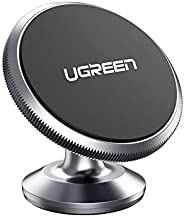 UGREEN Car Phone Holder Magnetic Dashboard Mobile Mount Sticky 3M Adhesive Dash Stand 2 Metal Plates Compatible for iPhone 1