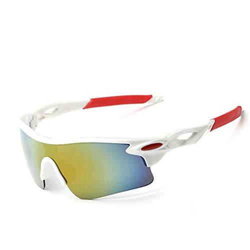 KOMNY Reitbrille Radfahren Nacht Schutz Windschutzscheibe Reiten Brille winddicht Bewegung polarisierte Farbe Brille Motorrad Anti-UV schwarz Rahmen schwarz Bein Nachtsicht, B
