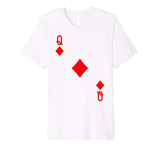 Queen of Diamanten Kostüm T-Shirt Halloween Deck Of Cards