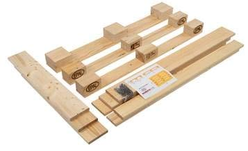 Möbelpalette Bausatz PALetta gehobelt