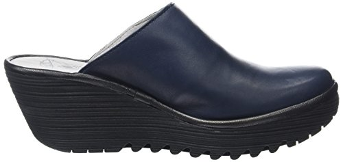 FLY London Yalo704, Escarpins Femme Bleu (Navyblack)
