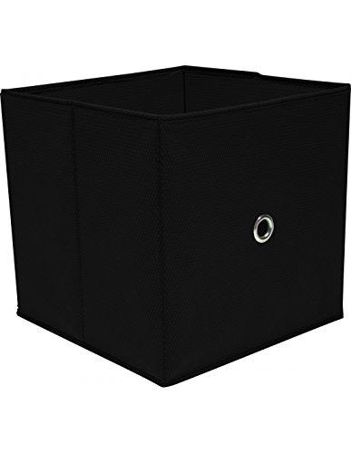 Boite de rangement - Cube de Rangement Noir 32 x 32 x 32 cm
