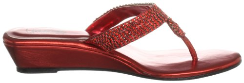 Unze Evening Sandals, Sandali donna Rosso (Rot (L18277W))