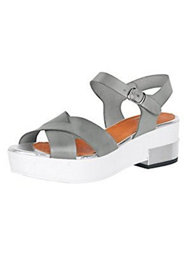 Sandalette Damen aus Nappaleder von Best Connections Grau