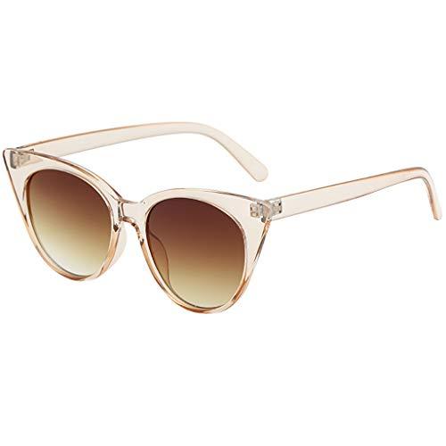 Rosennie Damen und Herren Sonnenbrille Brille Frauen Vintage Retro Style Herz Sonnenbrillen Retro Kleine Rahmen UV400 Brillen Fashion Sommer Sunglasses Autofahren Anti Glanz Polarisiert Eyewear