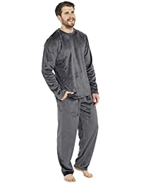 CityComfort Pijamas para Hombre, Pijama Forro Polar Loungewear, Pijama De Forro Polar Pijama De Dos Piezas De Manga Larga, Regalos Originales para Hombre