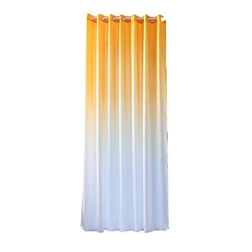 Xmiral Türvorhang Gradient Farbe Ösen Verdunklungsvorhang Gardine 270cmx100cm Für Kinderzimmer Wohnzimmer Schlafzimmer(Gelb)