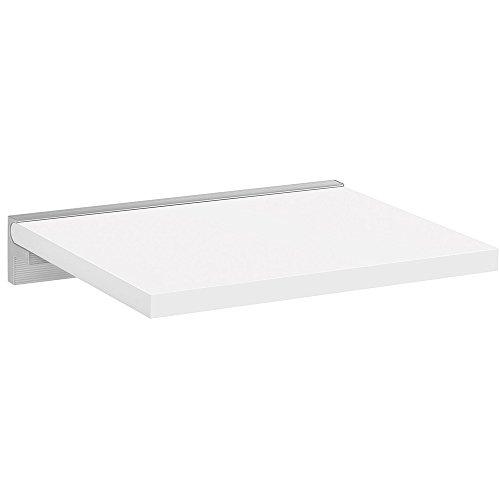 REGALRAUM Wandboard/Wandregal SUMO+CUBE | 45x40 cm - weiß/silber -