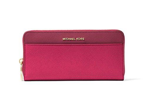MICHAEL Michael Kors Jet Set Color-Block Saffiano Leather Continental Wallet