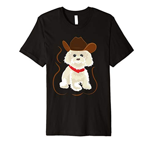 und rotem Halsband T-Shirt ()