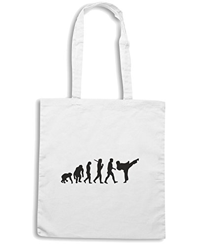 T-Shirtshock - Borsa Shopping OLDENG00044 development of martial arts Bianco