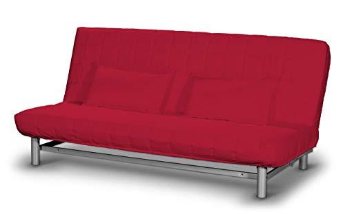 Dekoria Beddinge Sofabezug kurz Sofahusse passend für IKEA Modell Beddinge rot