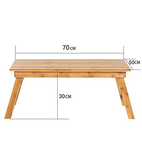 XNADESK Laptop-Schreibtisch, Bambus Laptoptisch Einstellbare Lap Tablett Große Größe Bett-servier-tablett Frühstückstasse Faltbare Notebook Computerschreibtisch-c 70x50cm(28x20inch) (Kinder-tv-lap Tray)